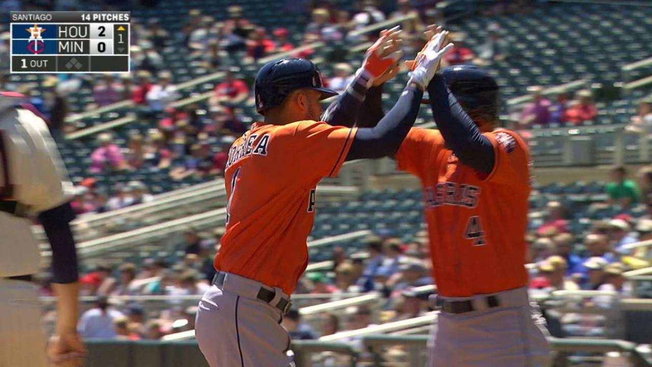 Astros cap monster May by tying club mark