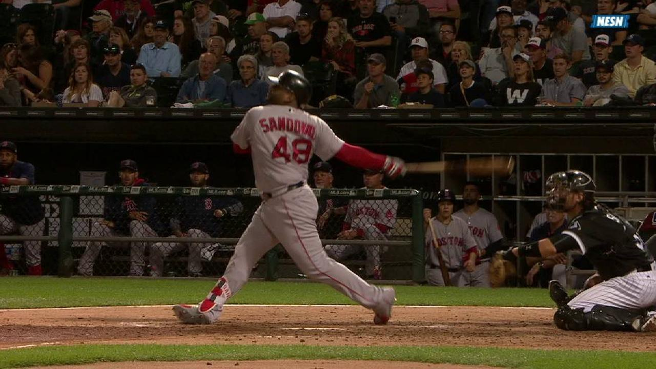 Sandoval returns with 3 opposite-field hits