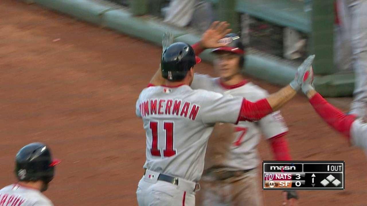 Zimmerman's three-run jack