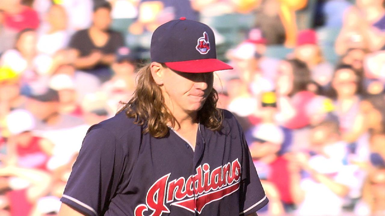 Clevinger strikes out seven A's