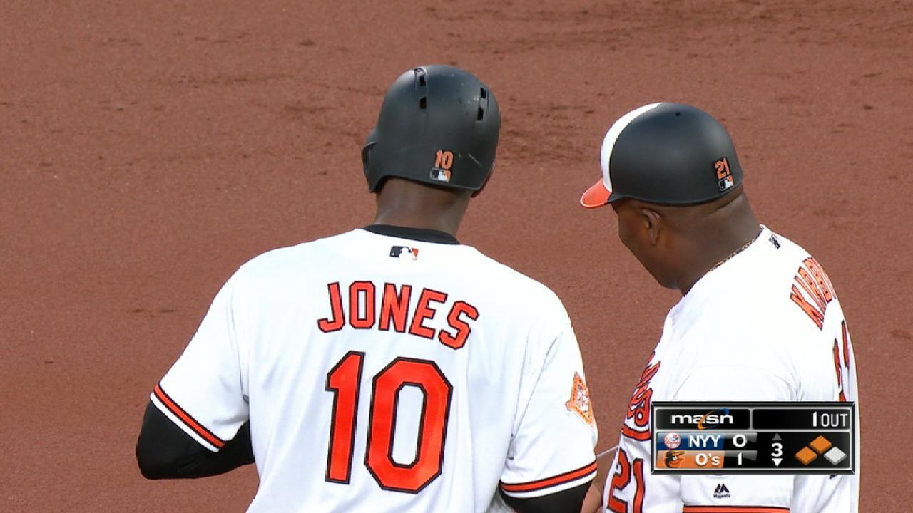 Jones drives in five