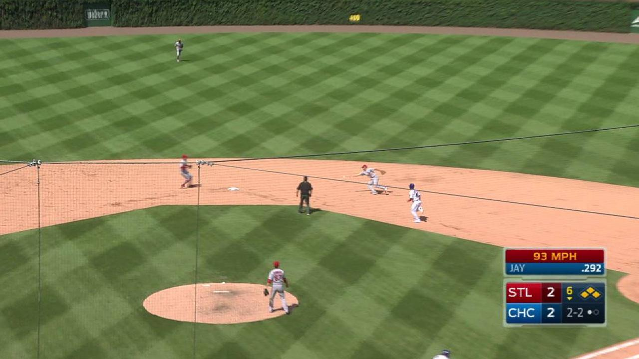 Cardinals turn key double play