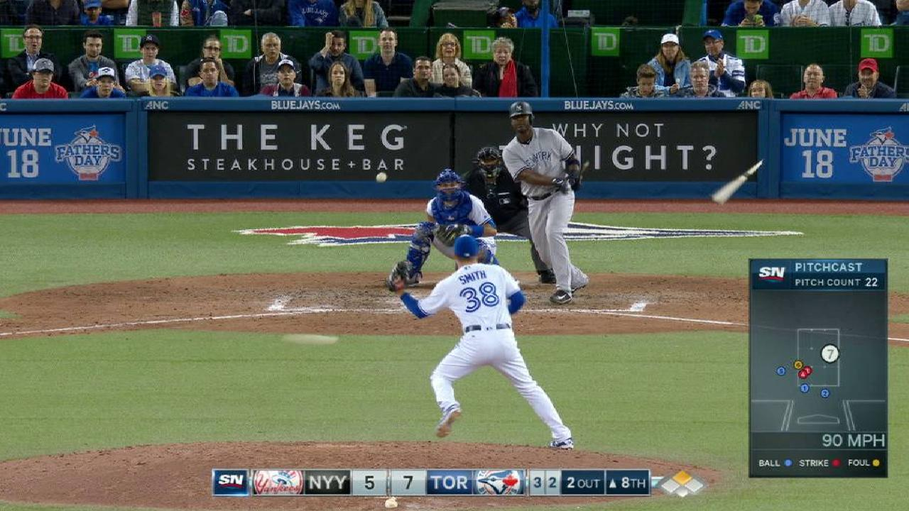 Smith snatches a line drive