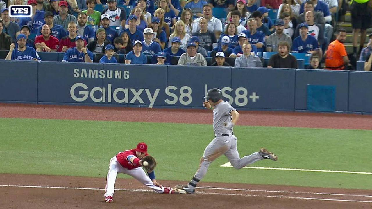 Holliday's RBI forceout