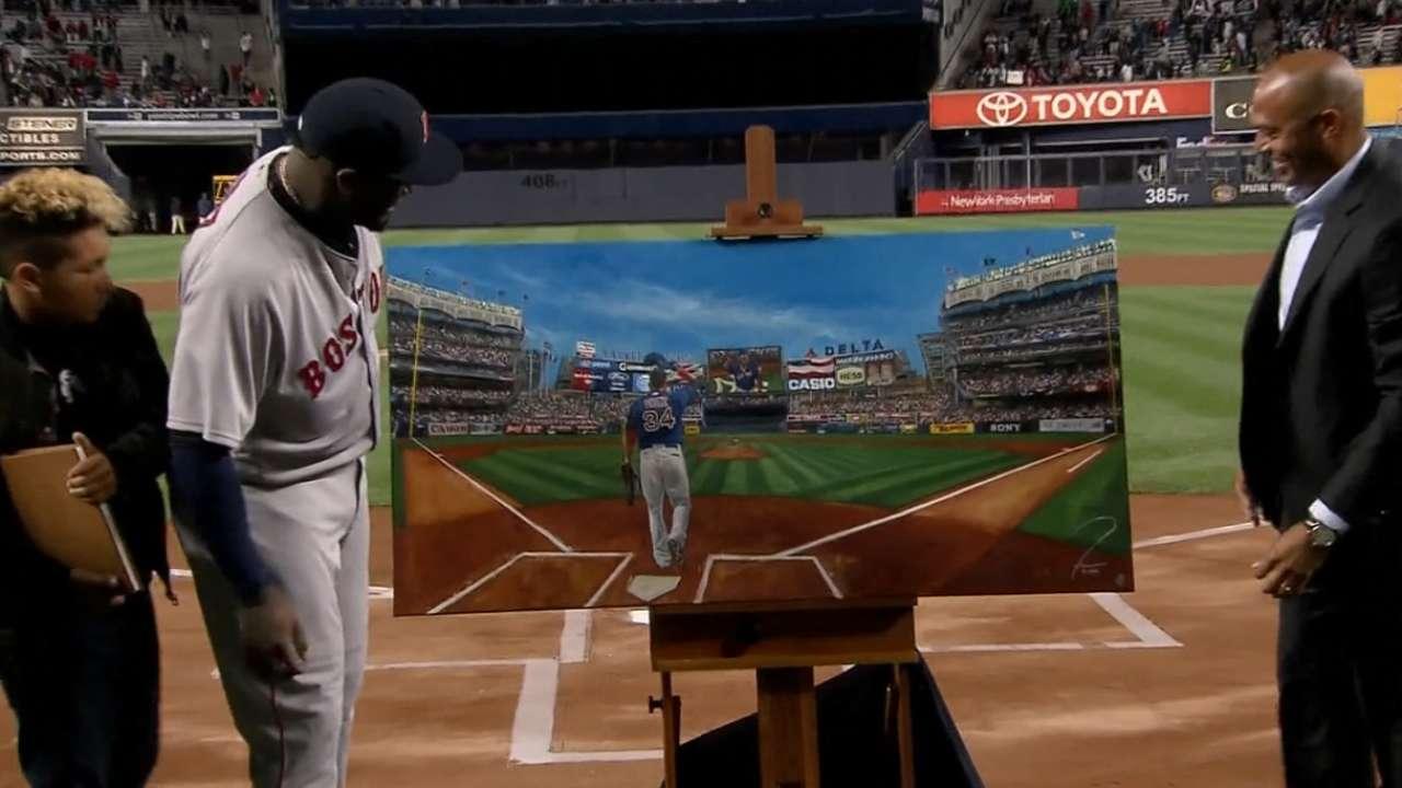 Ortiz honored by Yankees