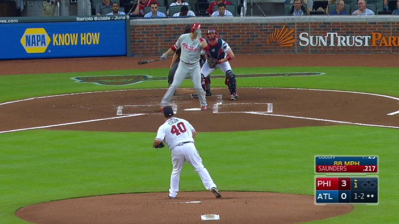 Colon returns to site of memorable homer