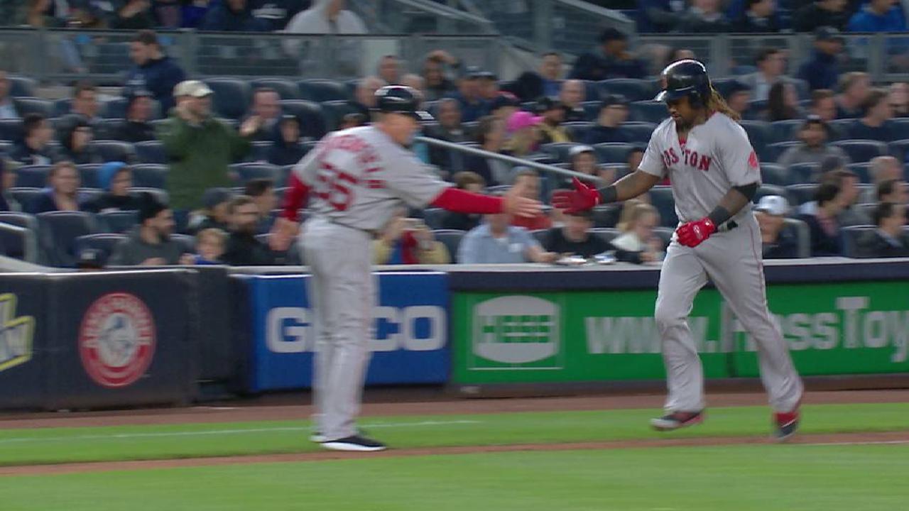 Con 3 HR Medias Rojas acortan distancia de los punteros Yankees
