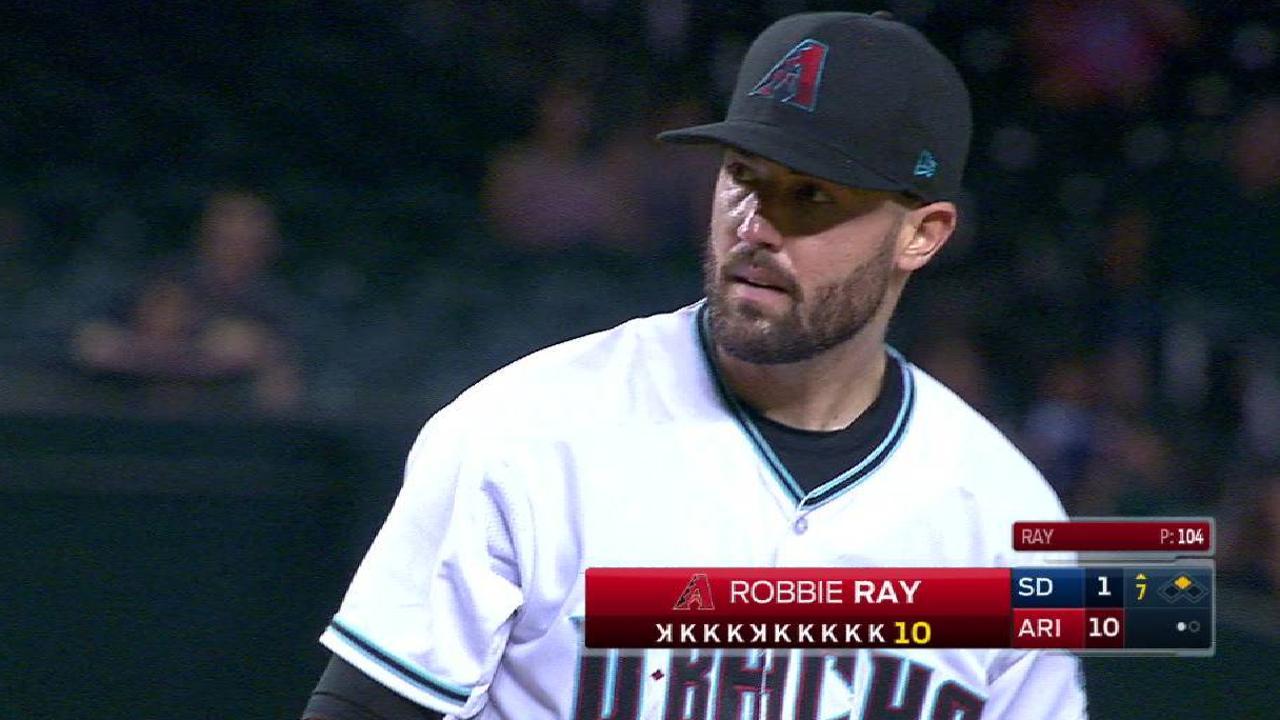 D-backs castigaron a Padres detrás de Ray, Owings