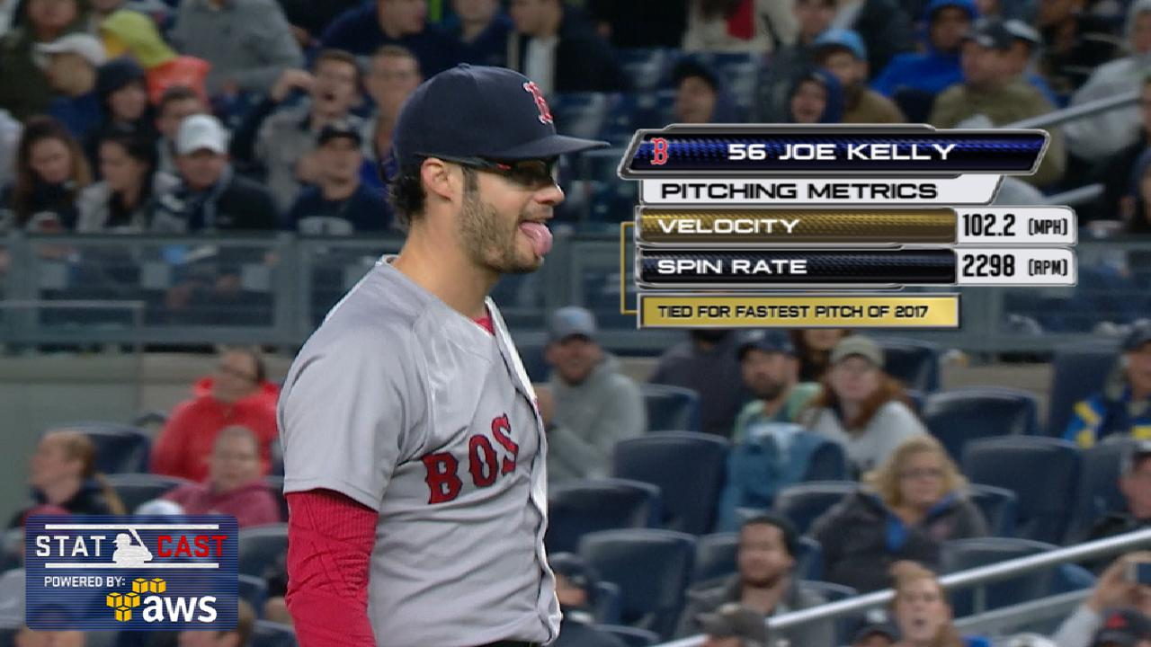 Statcast: Kelly throws 102.2 mph