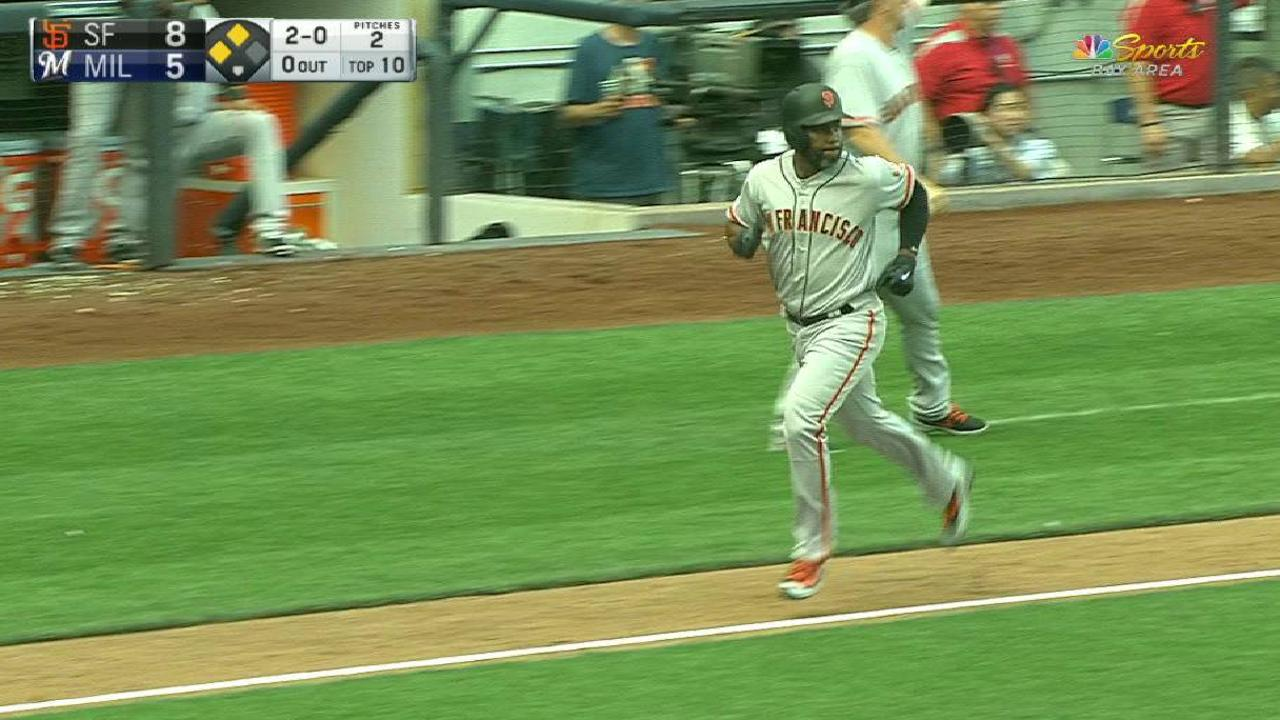 Panik's sac fly extends lead