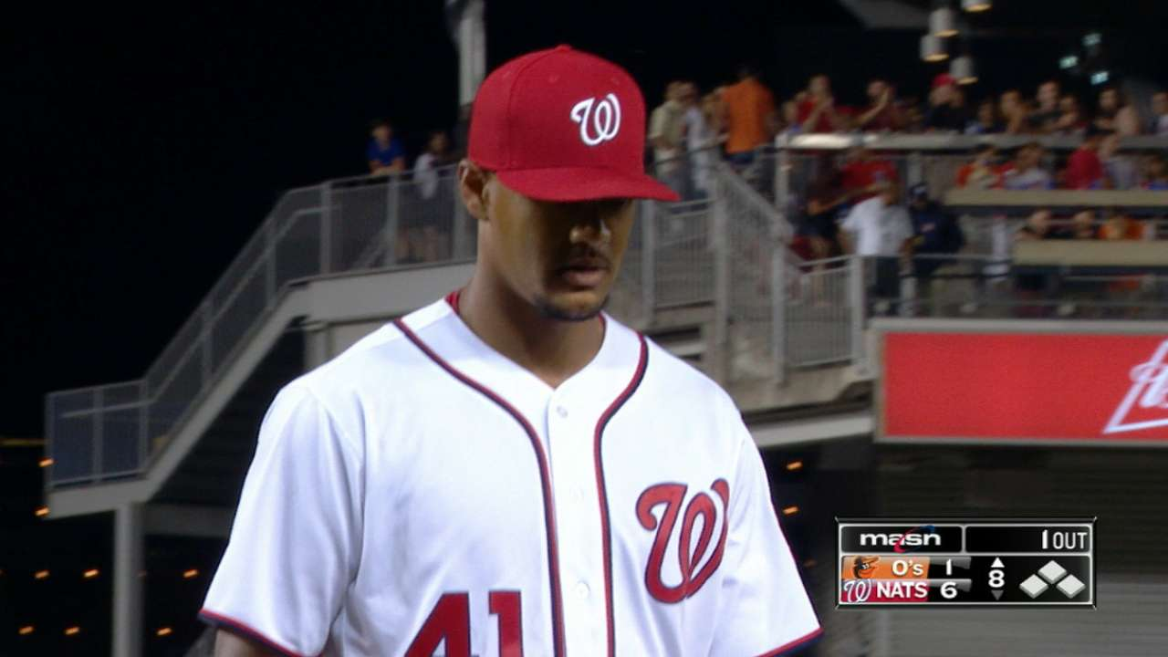 K's and make up: Ross fans 12 O's in Nats' W
