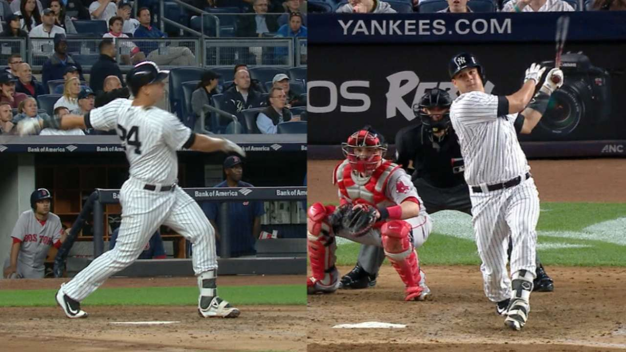Sanchez homers twice; Yanks pin Red Sox