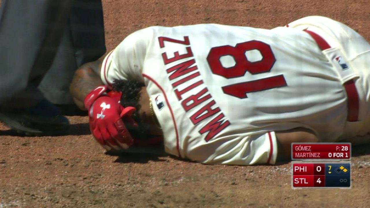 Martinez stays in after HBP