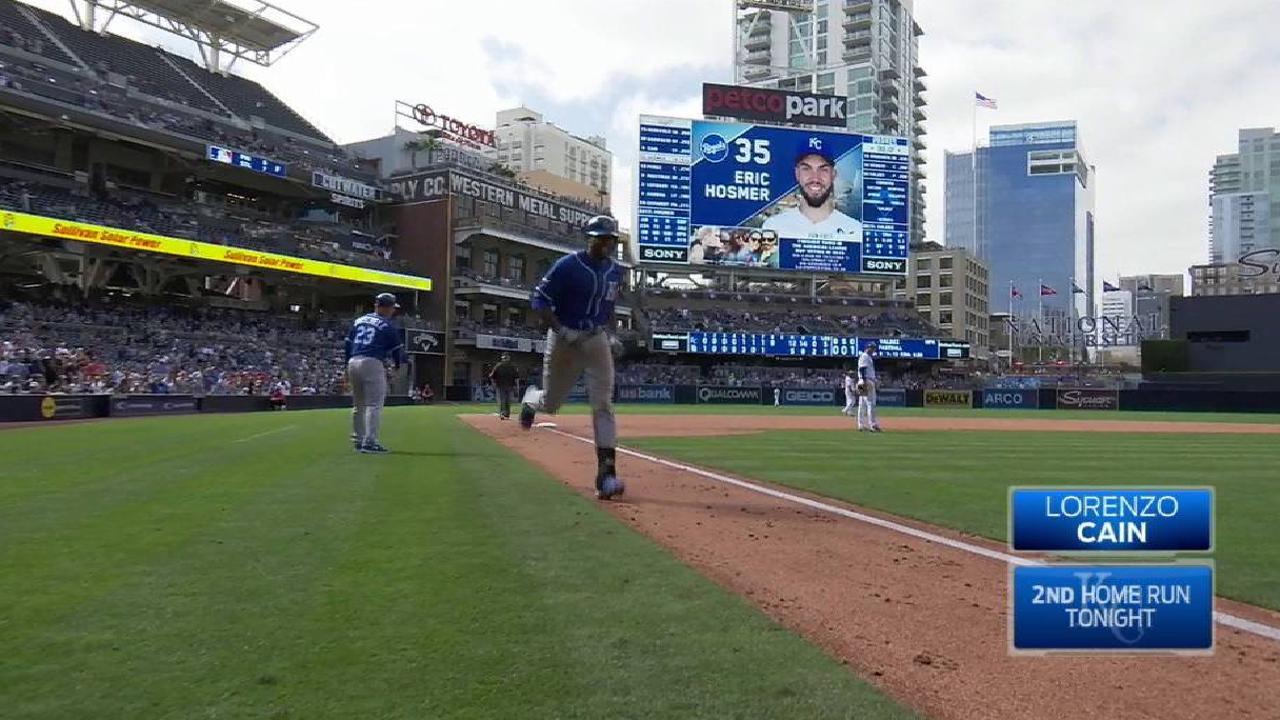 Cain's slam caps 9-run inning in KC comeback