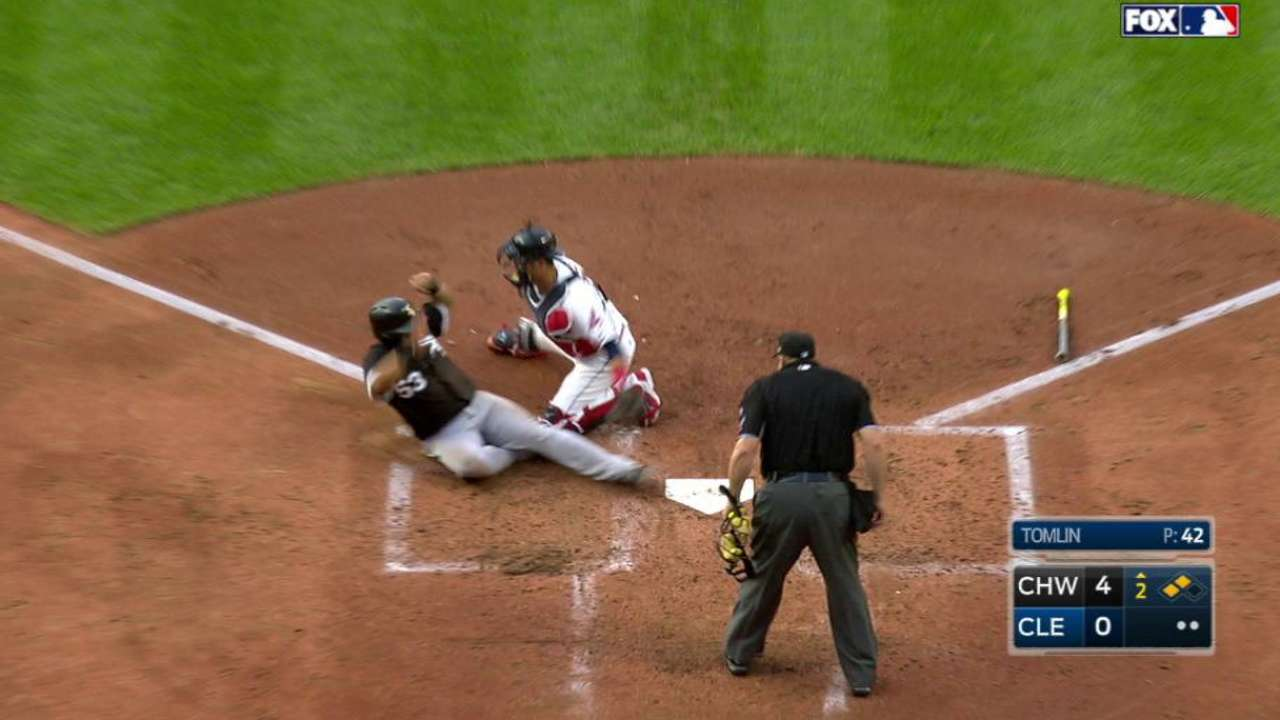 Indians relay cuts down Melky