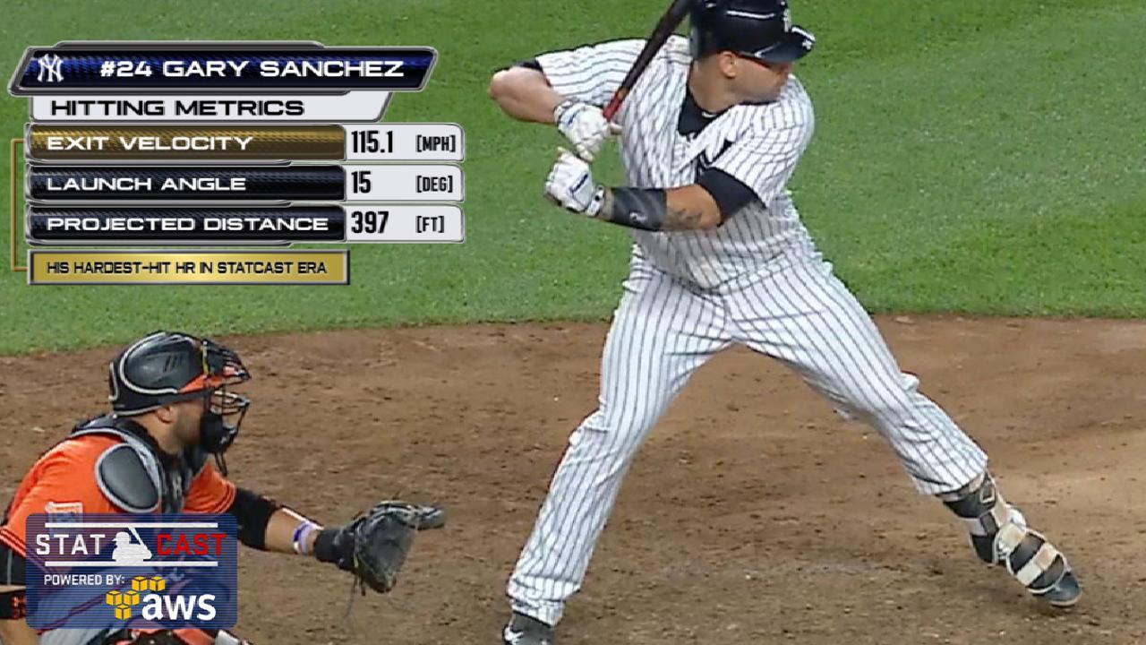Statcast: Sanchez's laser homer