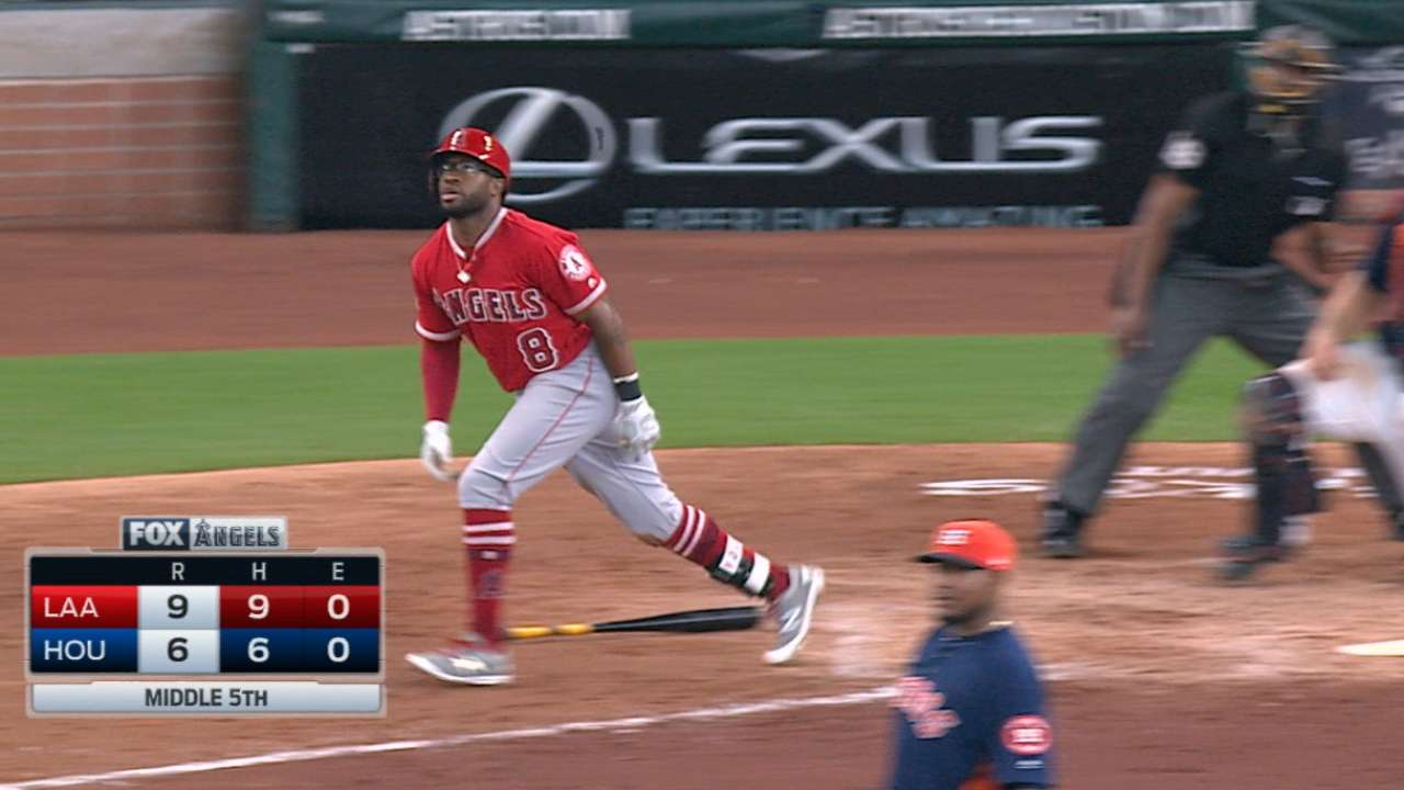 Angels score six in the 5th