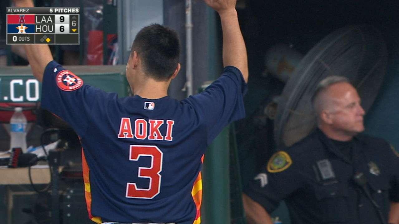 Norichika Aoki llega a los 2,000 imparables como profesional