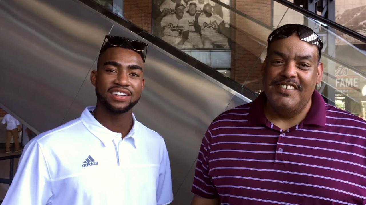 Jo Adell, dad on the MLB Draft