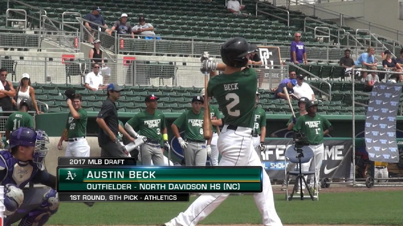 Athletics draft OF Beck No. 6