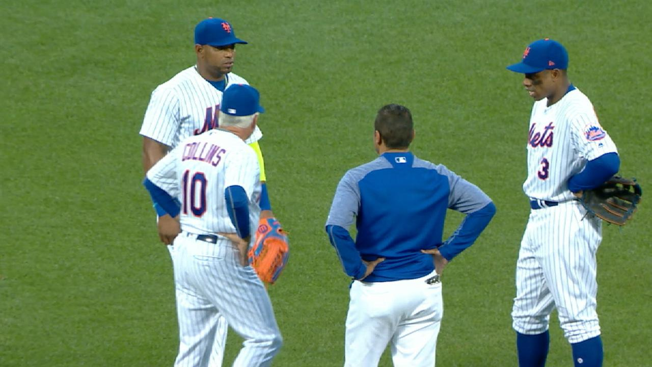 Cespedes pulled in 6th inning