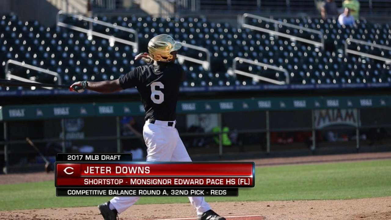 Reds select shortstop named Jeter at 32