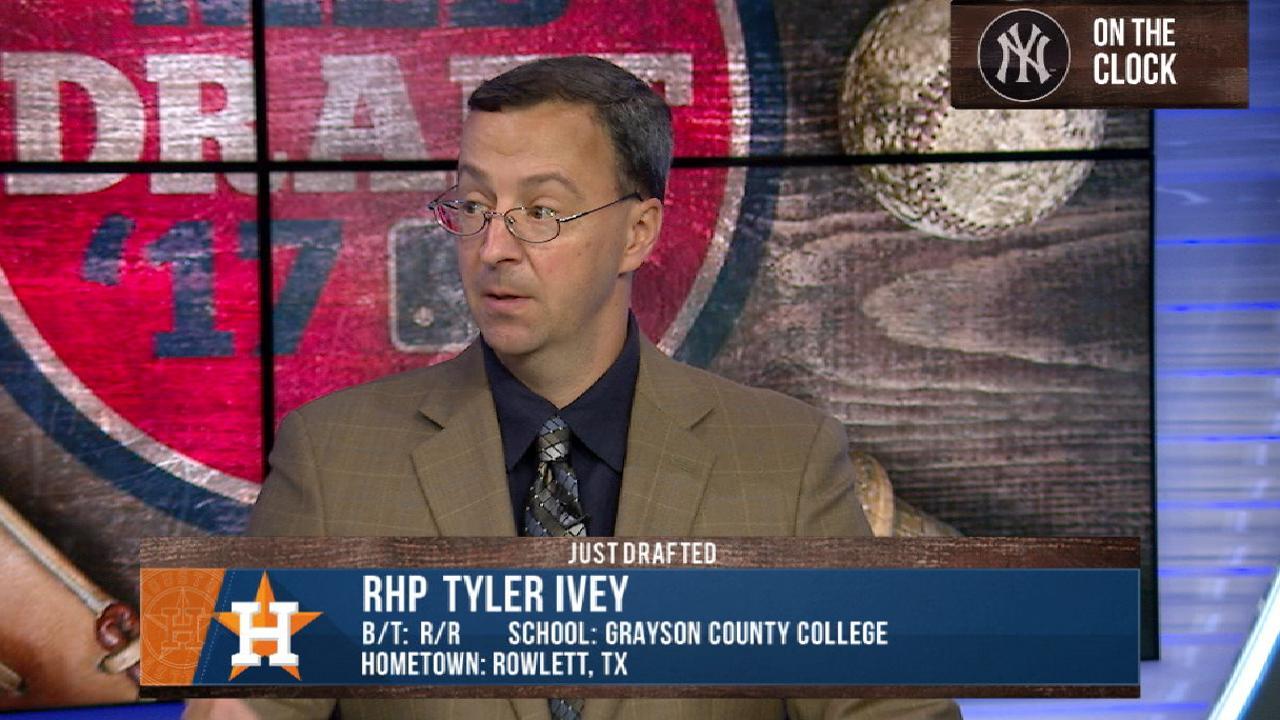 Astros draft RHP Ivey No. 91