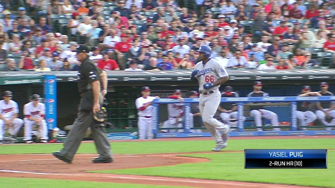 Puig's two-run homer