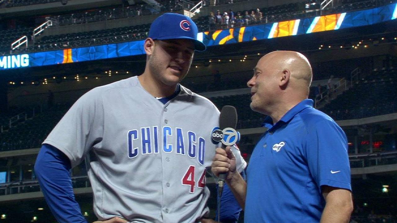 Rizzo on his leadoff homer