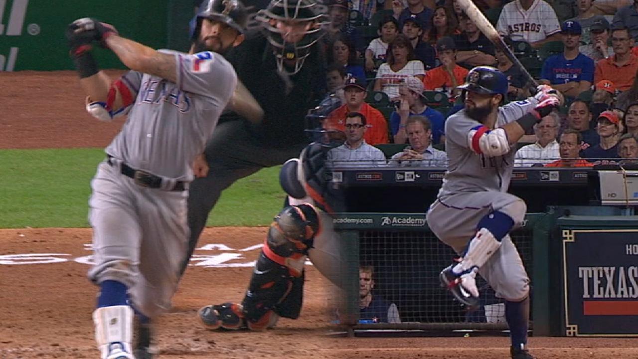 Rougned Odor suena par de jorones en victoria de Rangers ante Astros