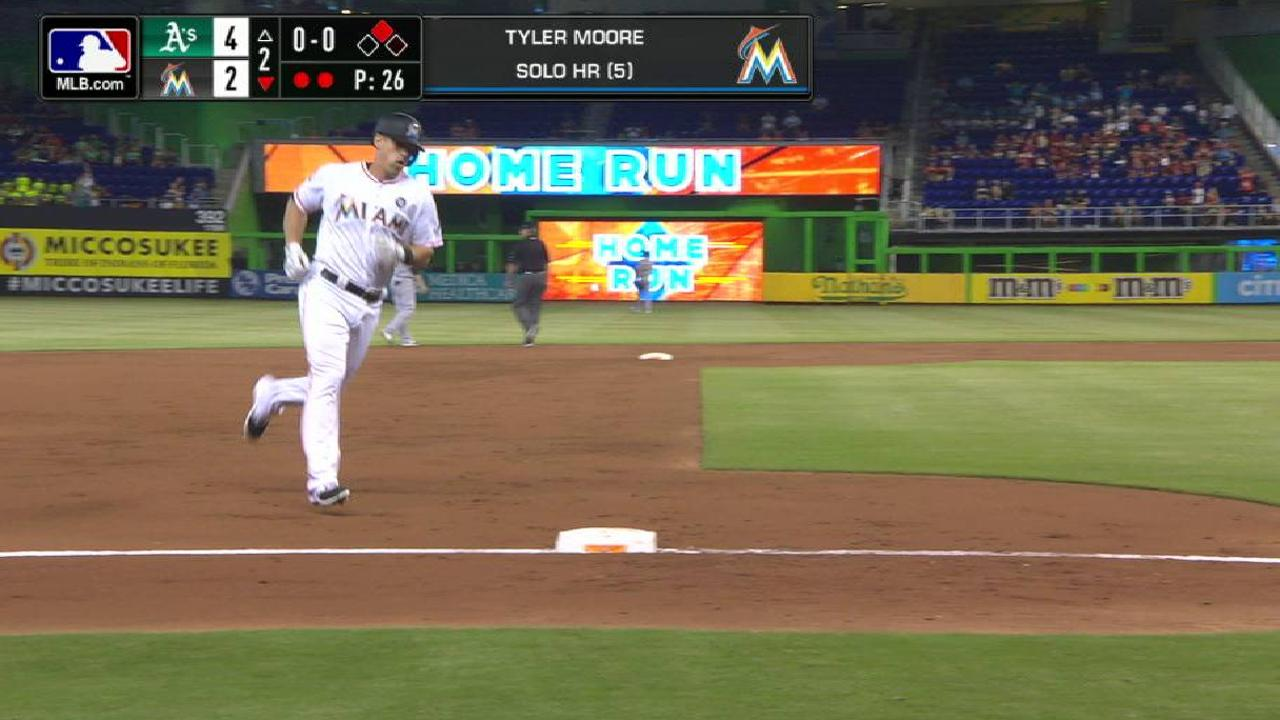 Moore's solo home run