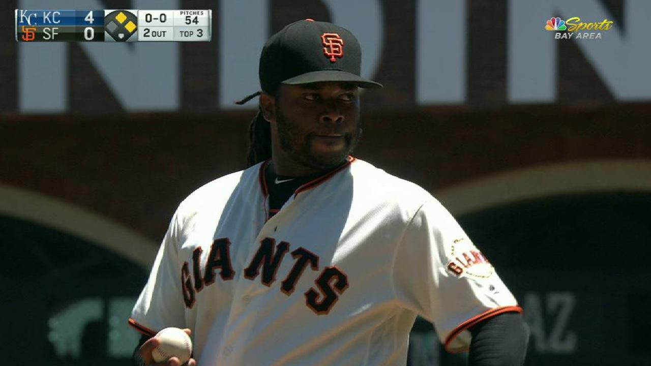 Cueto strikes out Gordon