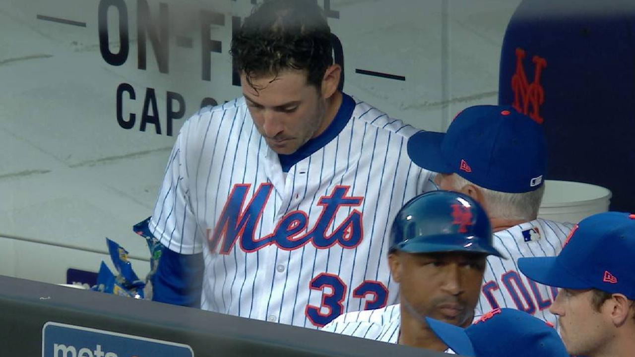 Harvey, Collins talk in dugout