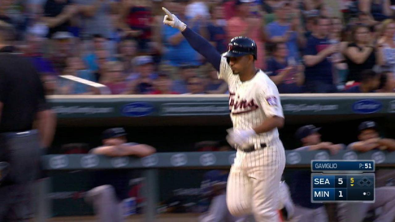 Escobar's long solo home run