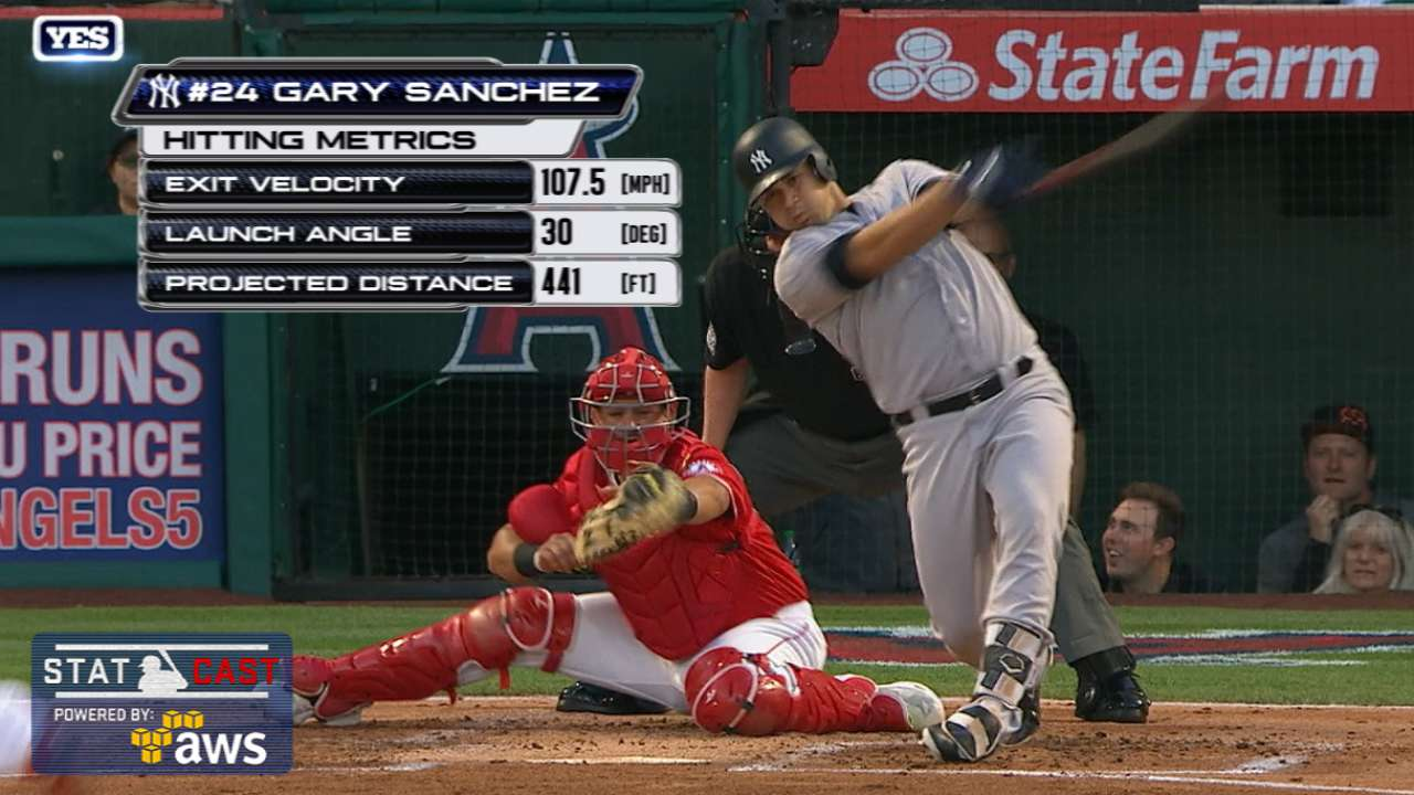 Statcast: Sanchez's 441-ft. shot