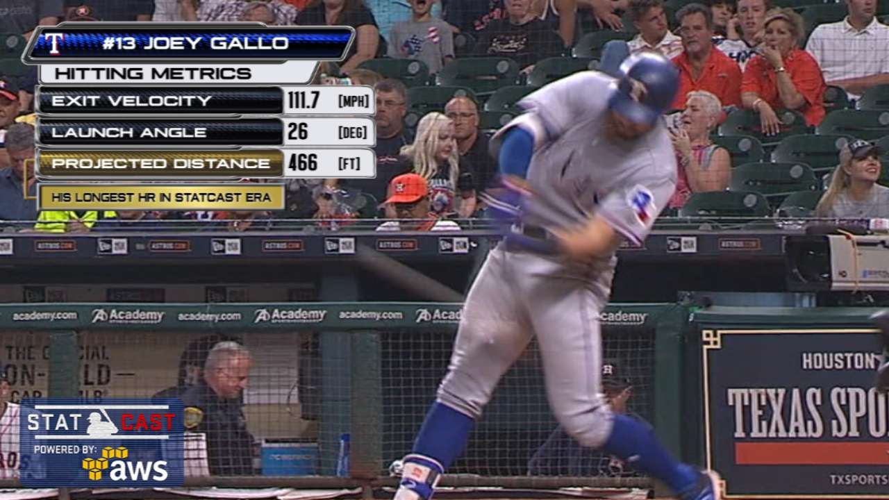 Statcast: Gallo's 466-ft homer