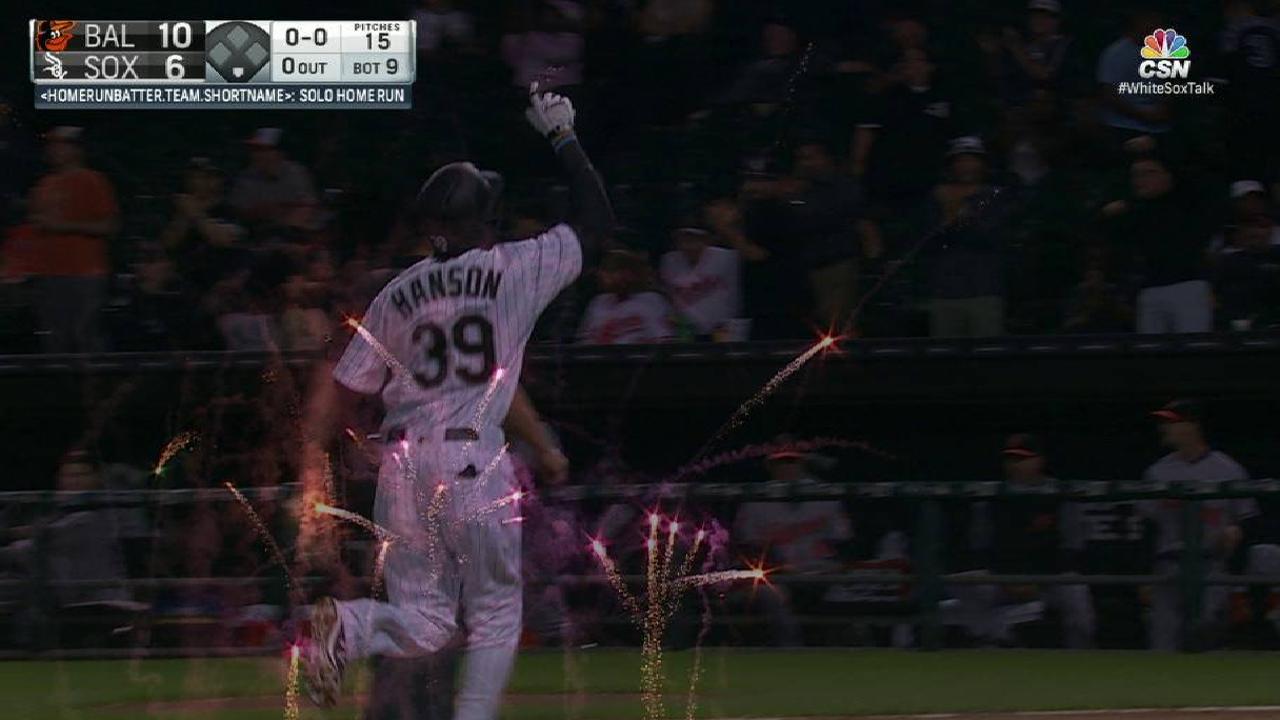 Hanson's first career home run