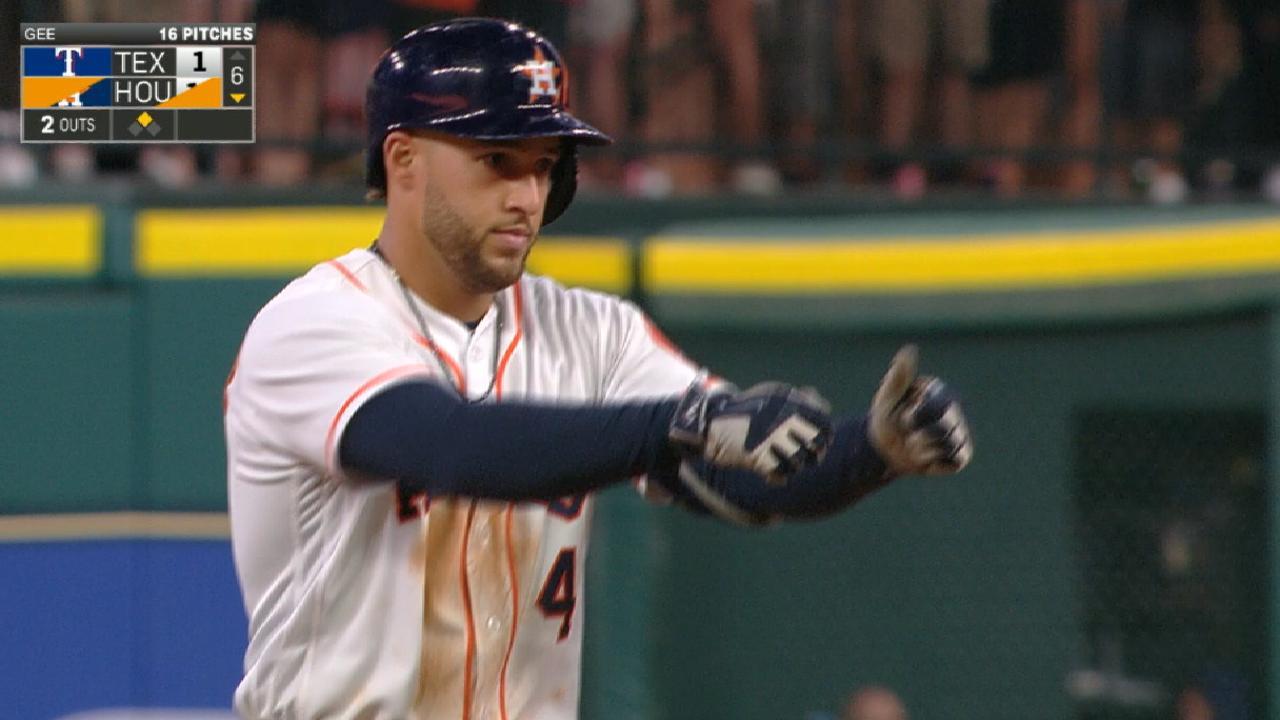 Astros' nine-run 6th inning