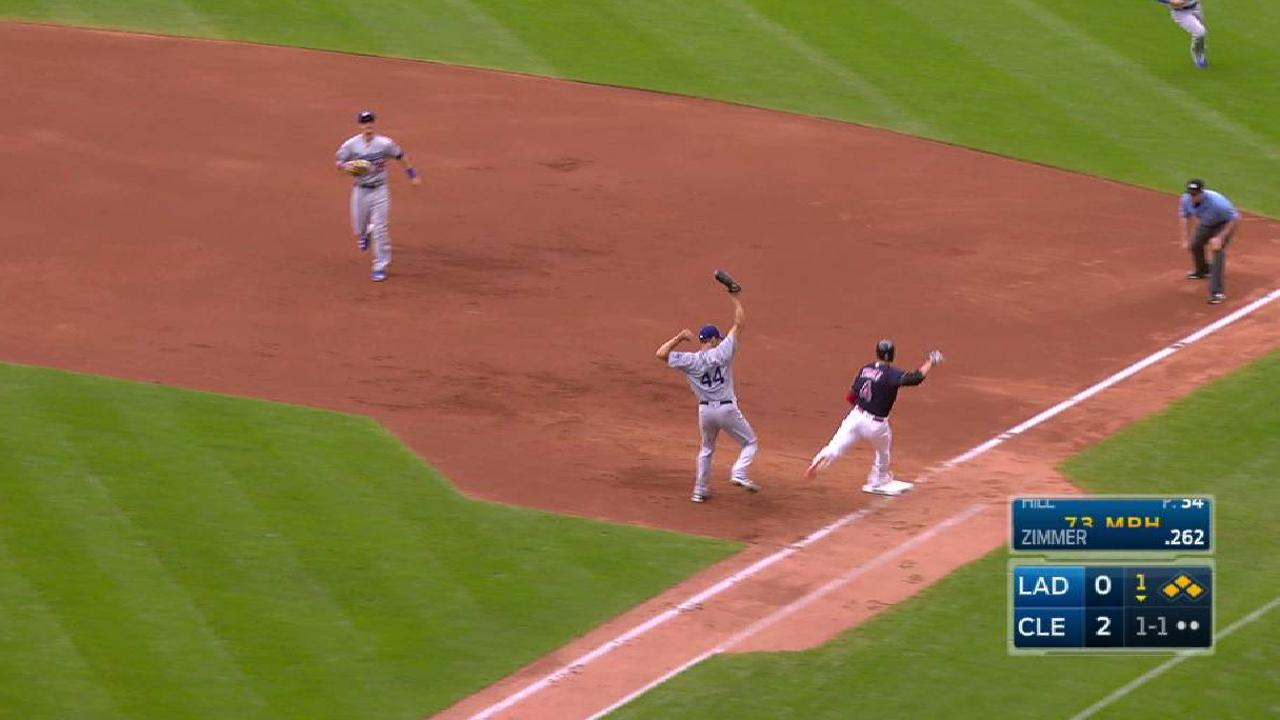 Zimmer's RBI infield single