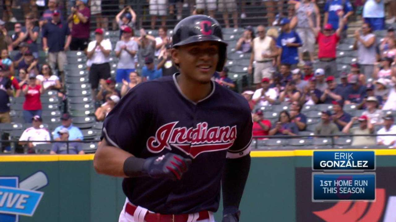 Gonzalez's first MLB homer