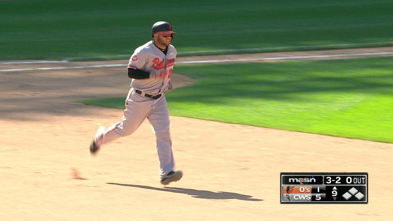 Castillo's solo homer to center