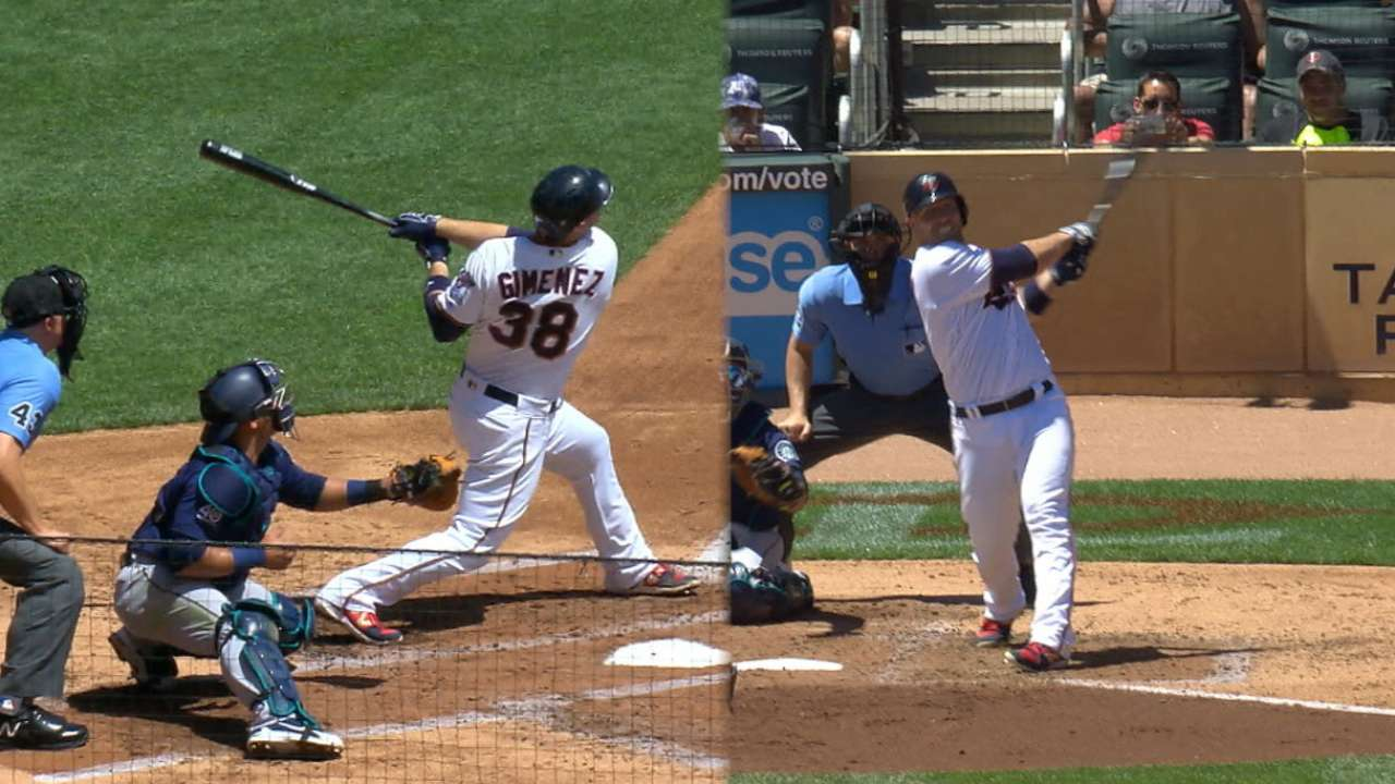 Gimenez goes deep twice for 1st multiHR game