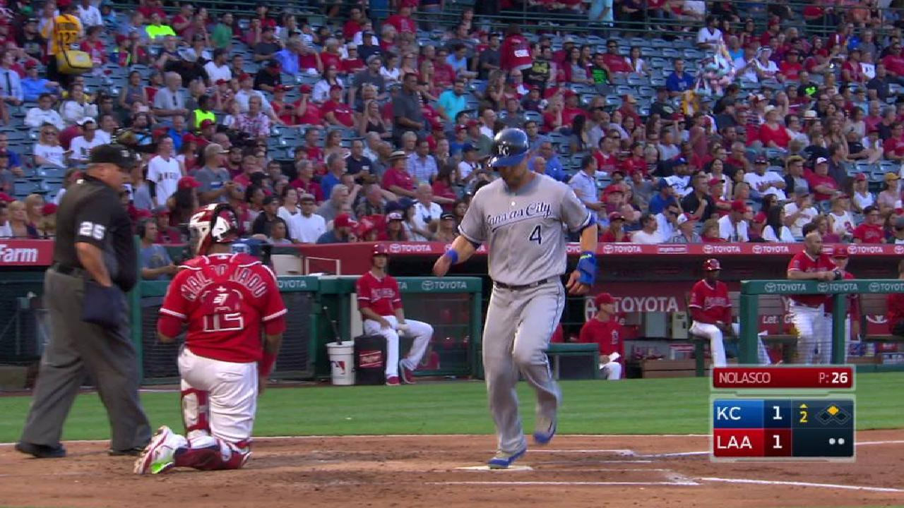 Merrifield's RBI double to left