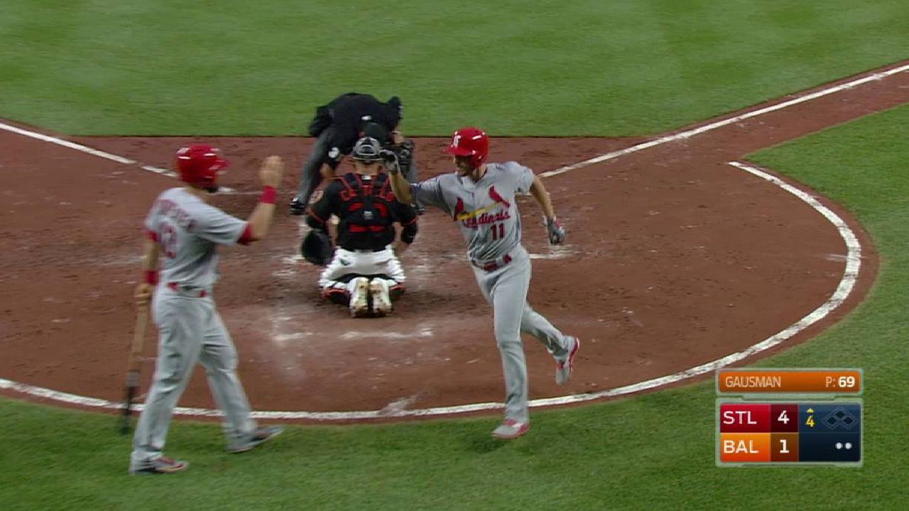 Bambinazos de Cardenales se imponen en el primero vs. Orioles