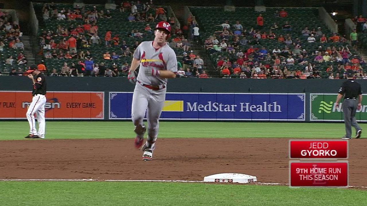Gyorko's solo home run