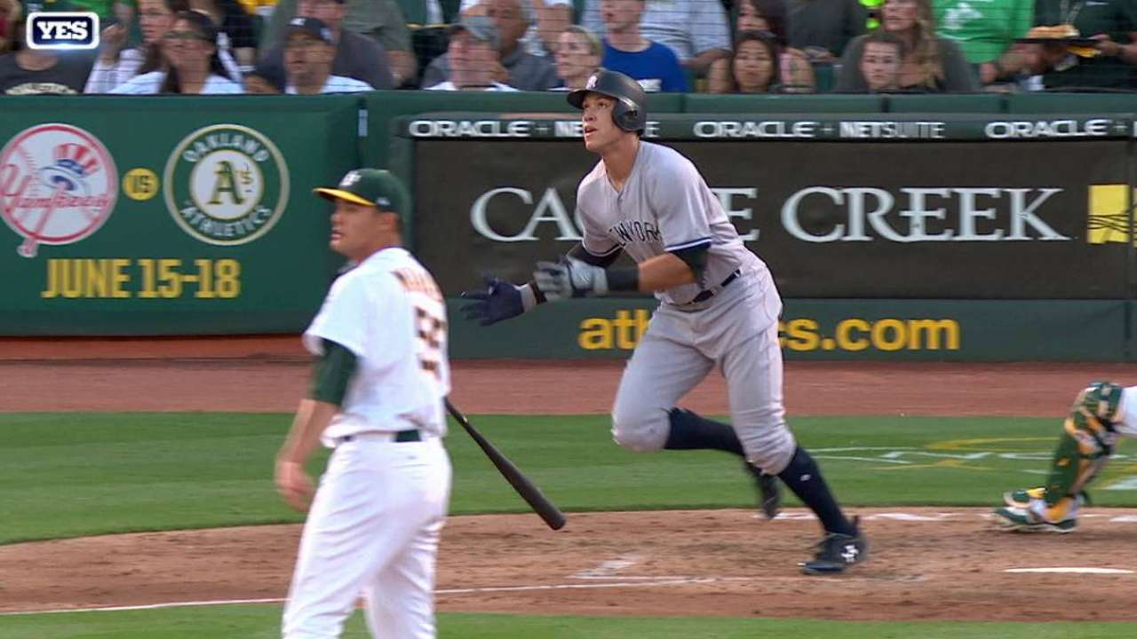 Yanks can't hold off A's after Judge's 23rd HR