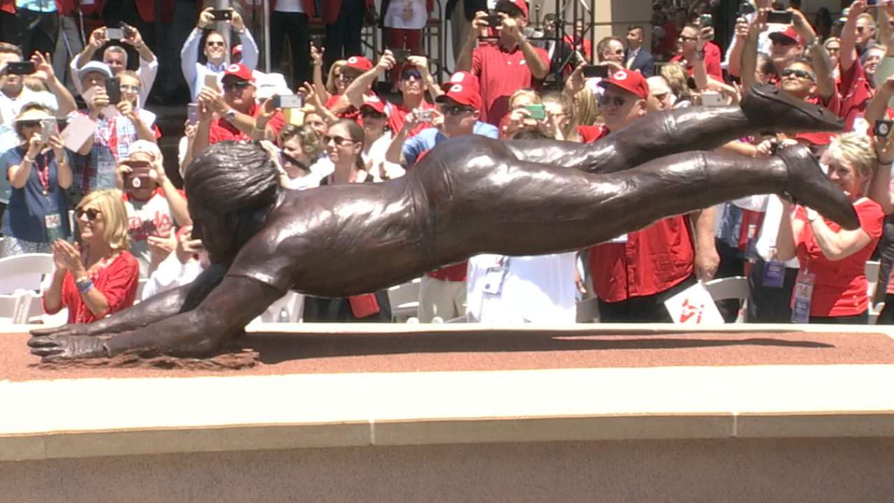 Rose immortalized in Crosley Terrace statue