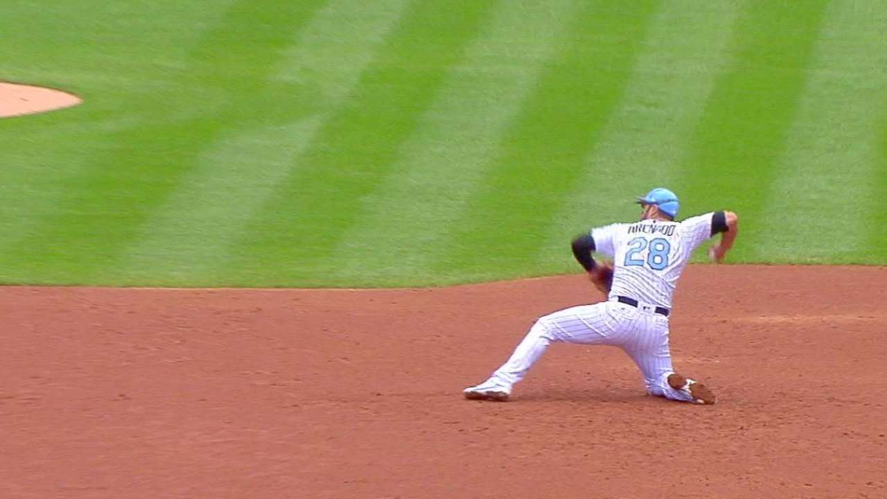 Arenado starts the double play
