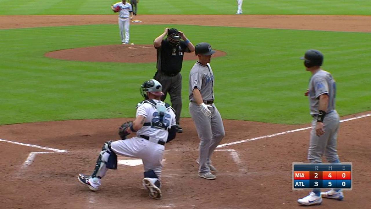 Moore's towering two-run shot