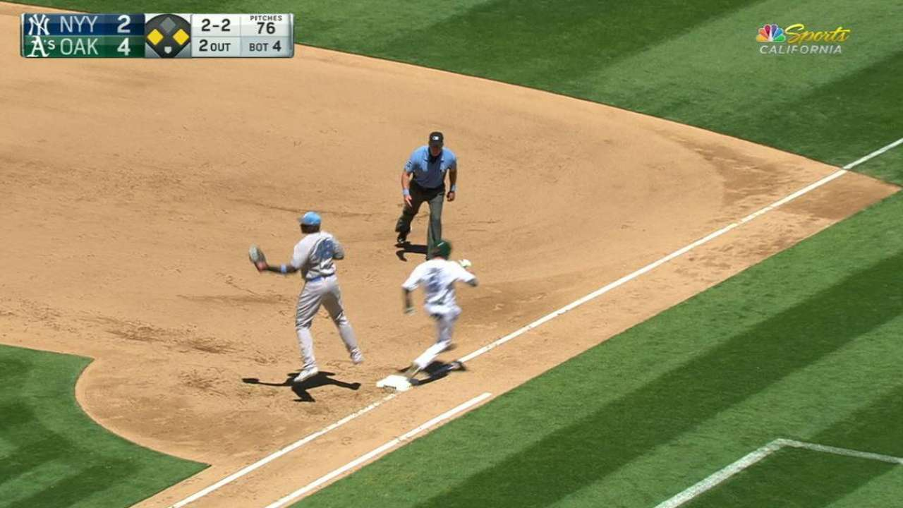 Lowrie's RBI single